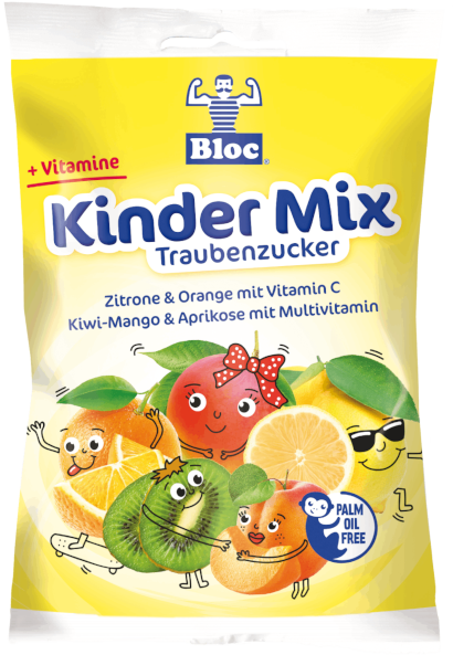 Bloc Traubenzucker Kinder Mix Beutel Packshot